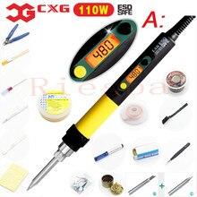 CXG DS110S Wysokiej Jakości Cyfrowe Elektryczne Lutownica Lutownica 110 W Z Podświetleniem C9 Serise Żądło Porady