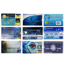 Pen Drive memoria usb Cartoon Credit Bank card creative PenDrive U Disk 4G 8G 16G 32G