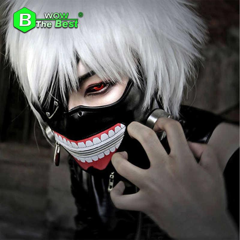 Tokyo Con Ma Cà Rồng Mặt Nạ Blinder Anime Cosplay Kaneki Ken Block Nạ Có Thể Điều Chỉnh Dây Kéo Mặt Nạ Halloween Đảng