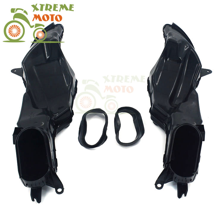 Motorcycle Air Intake Tube Duct Cover Fairing For SUZUKI GSXR1000 K9 2009-2015 2009 2010 2011 2012 2013 2014 2015 09 10 11 12 motorcycle radiator grille grill guard cover protector golden for kawasaki zx6r 2009 2010 2011 2012 2013 2014 2015