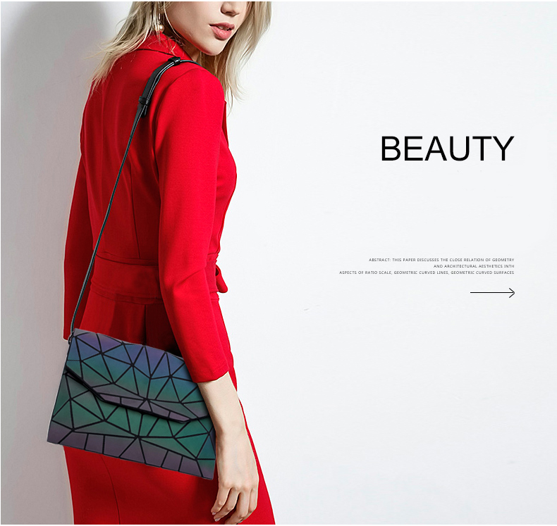 mensageiro luminosa designer noite feminina bolsa ombro sacos meninas aleta bolsa