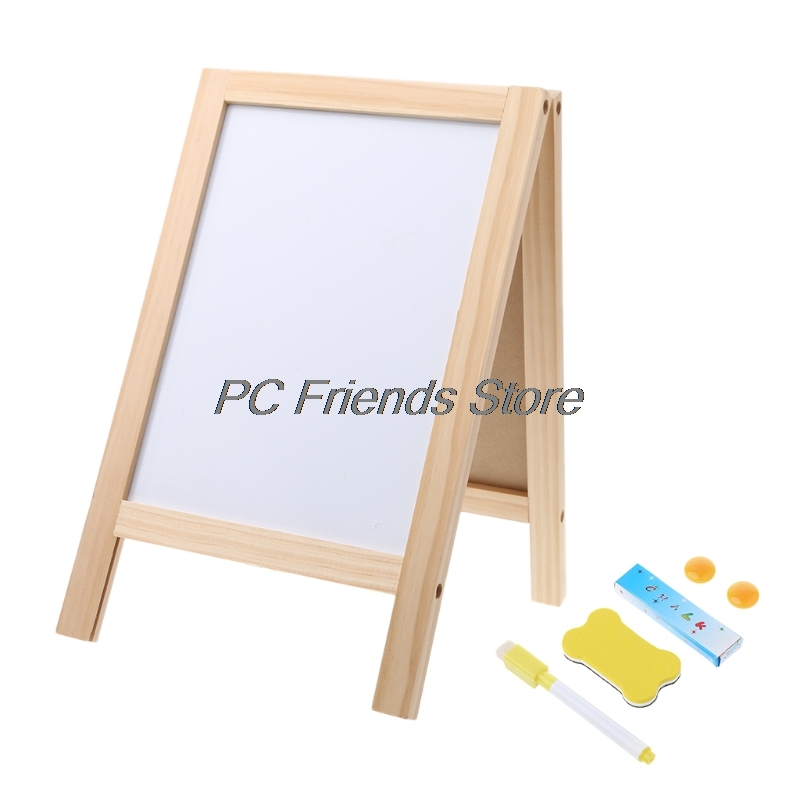 Mini Wooden Tripod Blackboard Small Double Easel Message Board Whiteboard-PC Friend vodool 10pcs mini wooden chalkboards children small blackboard decoration borders black board for message party with stand