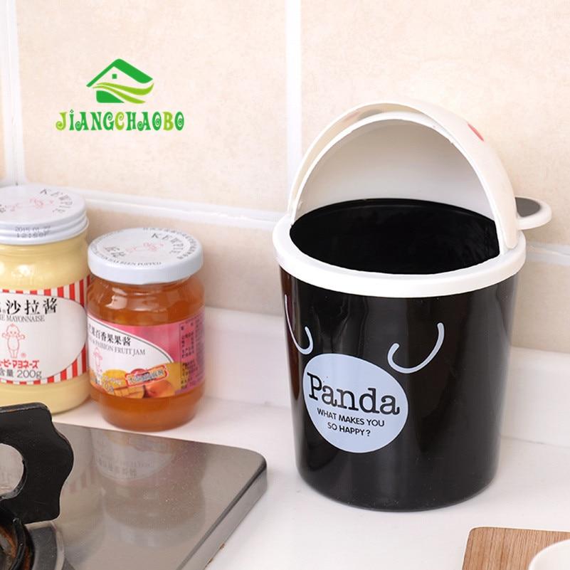 Mini Bucket Bucket Kartun Cute Trash Barrel Creative Desktop Storage - Organisasi dan penyimpanan di dalam rumah - Foto 4