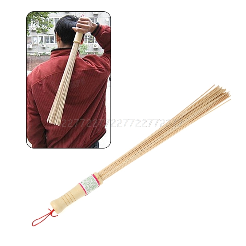 Natural Bamboo Pat Fitness Sticks High Quality Wood Handle Of Body Massage A01 19 Dropship