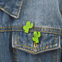 Green Cactus Pin Enamel Pin Badge Cartoon Funny Plants Brooch for Women Men Pin Button Clothes Hat Backpack Accessories Gift