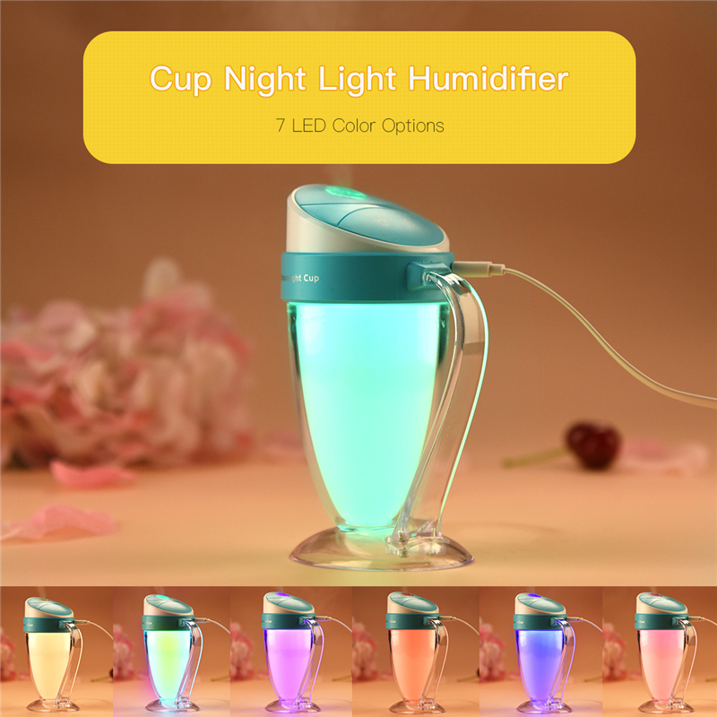 Moon light Cup Humidifier USB Mini Mist Air Humidificador Air Purify Color LED Night Light Aroma Mister for Office Home Car S50 humidifier home mute high capacity bedroom office air conditioning air purify aromatherapy machine