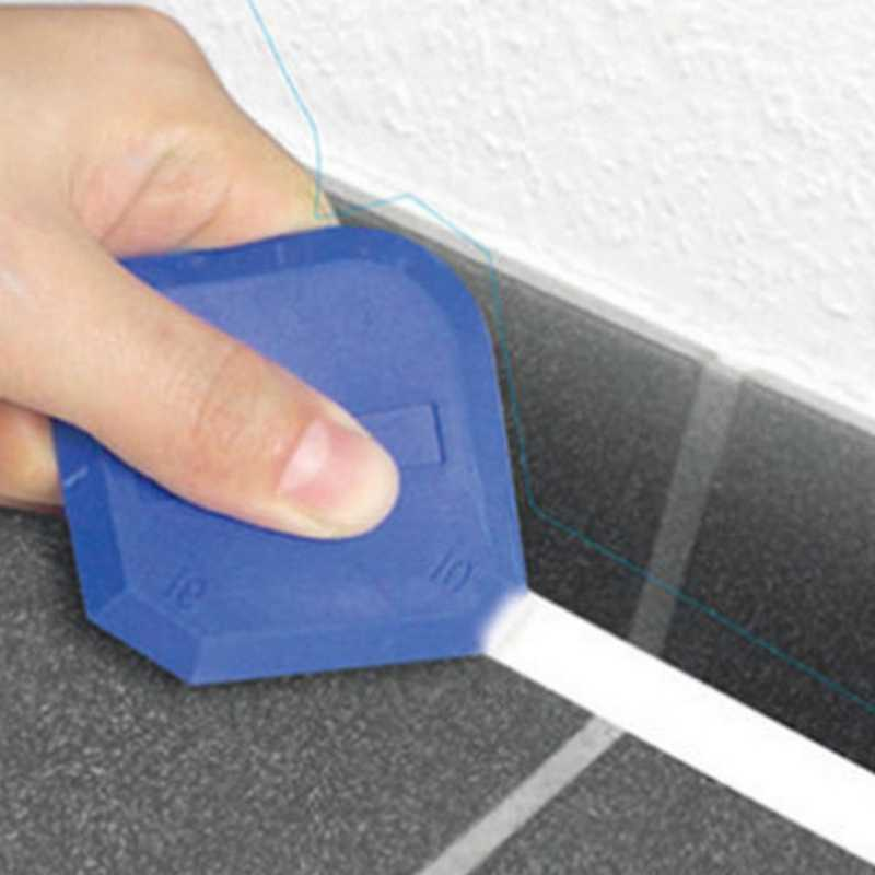 8 peças Kit Ferramenta de Calafetagem Selante Ferramentas de Acabamento Para O Banheiro Cozinha E Piso de Vedação, Azul