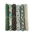 Forest Green 6pcs/lot 48x50cm 100% Cotton Poplin Quilting Fabric Bundle Sewing Diy Patchwork Cloth 17.7x19.7 6P-19