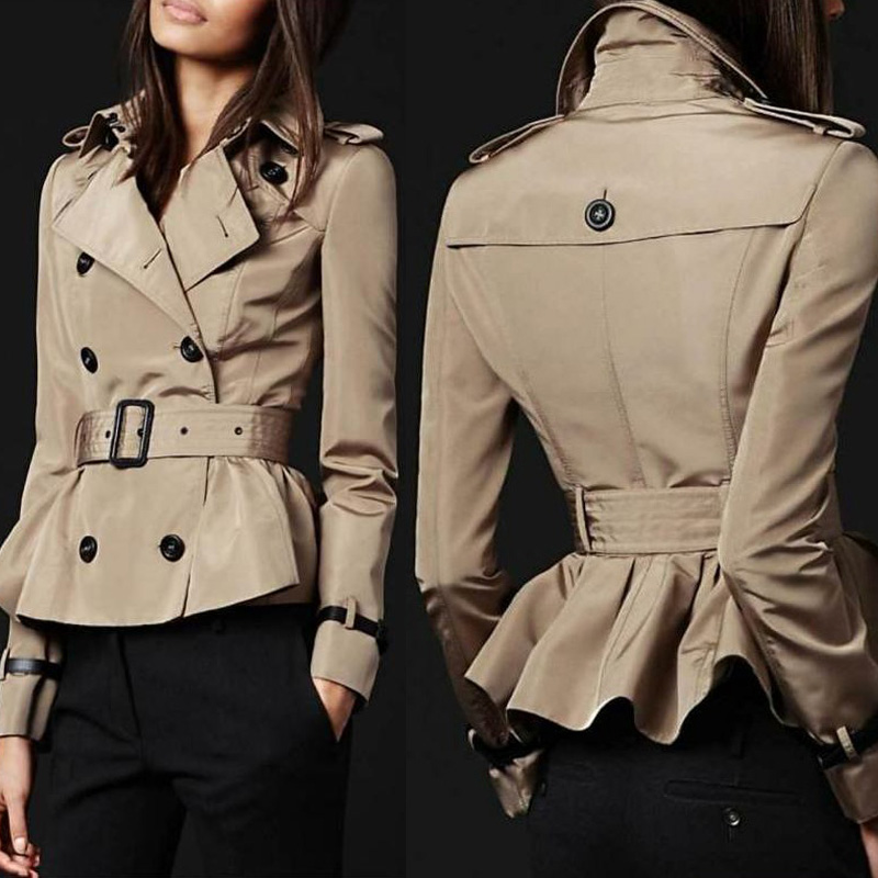 British Style Big Brand Short Trench Coats Women Winter Long ...