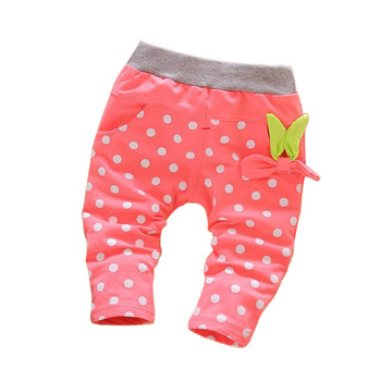 baby girls long cotton pants 1-3 years children clothing 2017 new spring and autumn girls pants lovely children trousers Baby Pants