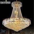 Royal Empire Plata Francés Luz araña de Cristal de Oro de Cristal Colgante de Luz de Diámetro 50 cm