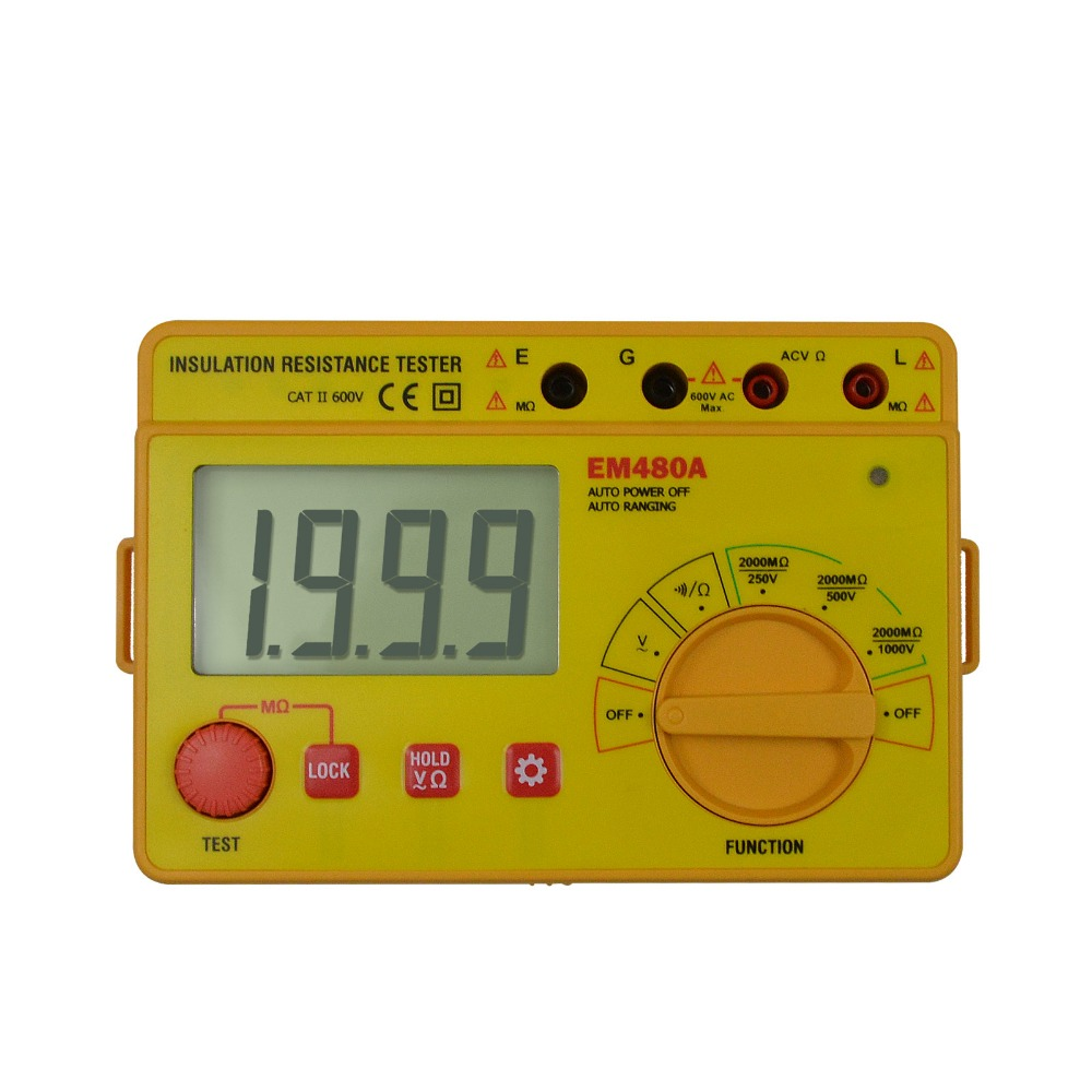 all-sun EM480A  insulation resistance tester portable voltage AC 600V professional tester resistance continuity tester vans metallica kill em all