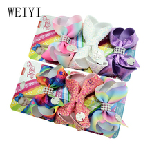 3pcs Baby Girls Bow Hair Clip Polyester Ribbon European Style 3 Inches Exquisite Headdress Gift Handmade Girls Bow Hair Clip 903 bow style wig decorative hair clip golden l