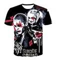 Os Recém-chegados do Esquadrão Suicida Harley Quinn Coringa Impressão Digital Mulheres Homens manga Curta t-shirt Verão 3D Filme Anime T-shirt