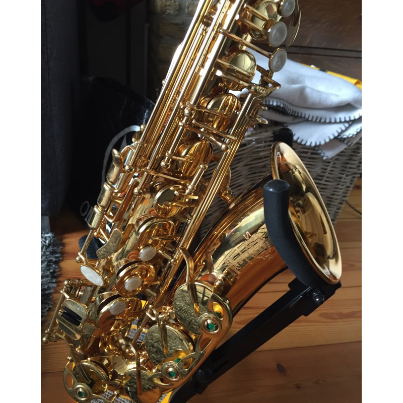 Free Shipping France Henri Selmer Saxophone Alto 802 Musical Instrument Alto Sax Gold Curved Saxfone Mouthpiece Electrophoresis taiwan saxophone selmer 80ii alto saxophone musical instrument saxophone antique copper wind shipping
