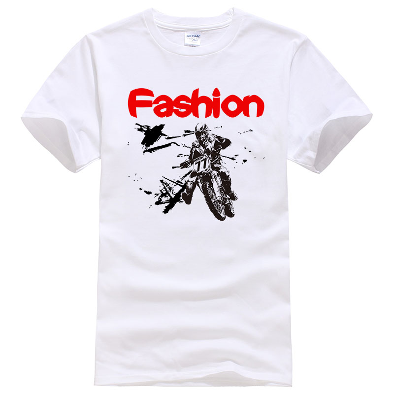 2019 New Fashion Motorcycle Printed   T     Shirt   Casual Short Sleeve Cotton Tops Tees Cool Design Tee ZDJ