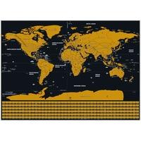 Стираемая карта мира Творческий Путешествия США Канада State Line флаг черный низ
