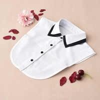 Colliers amovibles pour femmes 2019 blanc femmes chemise faux colliers noir faux col femmes détachable colliers Stand Nep Kraagie