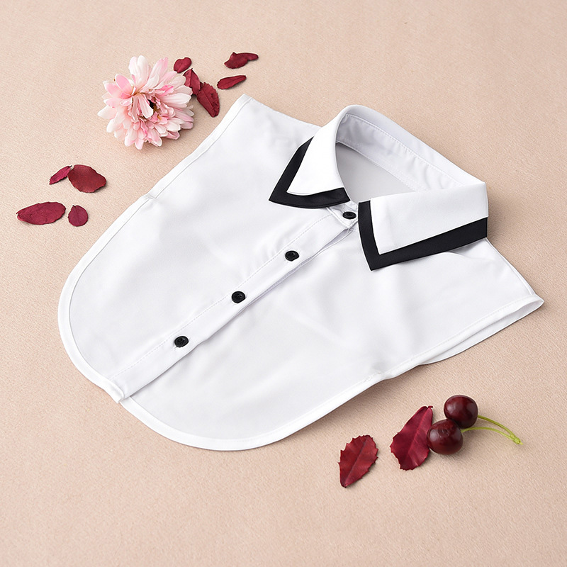 Removable Collars For Women 2020 White Women Shirt False Collars Black Fake Collar Women Detachable Collars Stand Nep Kraagie
