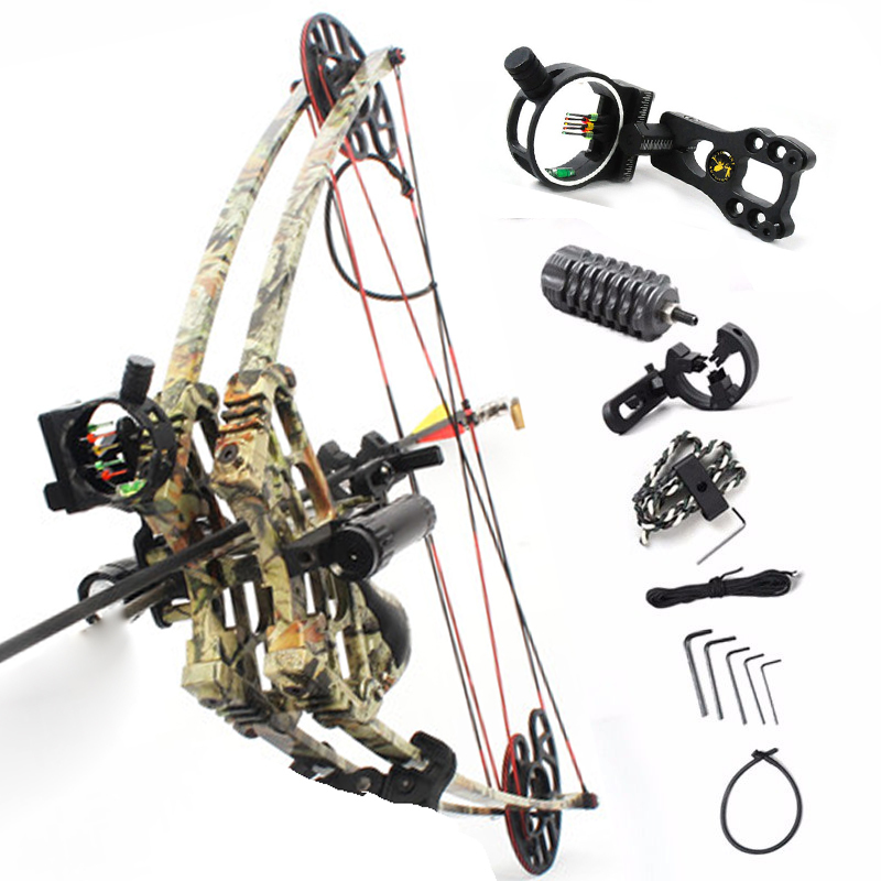 40-50lbs Powerful Archery Compound Bow Suit For Left Hand / Right Hand Triangle Bow For Hunting Shooting Let-off 75-80%