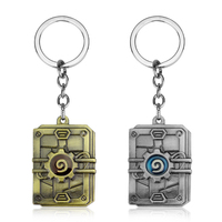 Wholesale Jewelry Heroes Of War Craft Key Chains 3D Hearthstone Keyring For Best Friend Vintage Metal