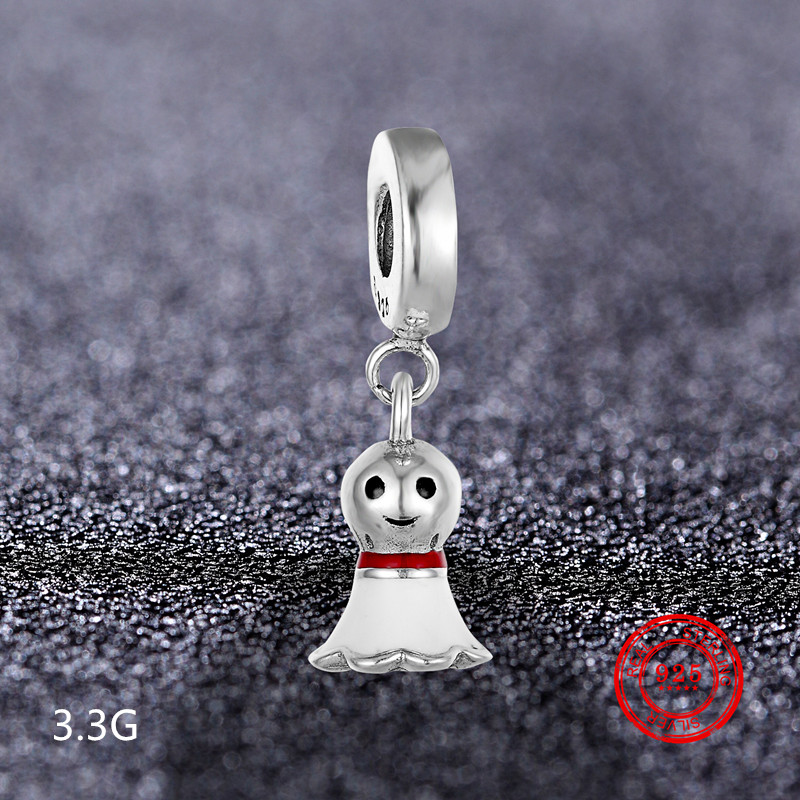Genuine 100 925 Sterling Silver Beads Pendant Bell Boat Fit Pandora Bracelet Original DIY Jewelry Wholesale in Beads from Jewelry Accessories