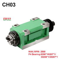 New Arrival CH03 ER32 Spindle Taper Chuck 1.5KW Power Head Power Unit Machine Tool Spindle Max.RPM 2500rpm for Milling Machine