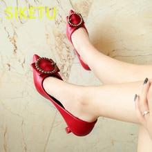 0cf480047 SIKETU Primavera Frete grátis e outono das mulheres sapatos de verão  sandálias Da Moda sapatos de salto alto sapatos de casament.