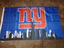 New York Giants Skyline flag 3x5FT NFL banner150X90CM 100DPolyester brass grommets  custom flag 417f7846d