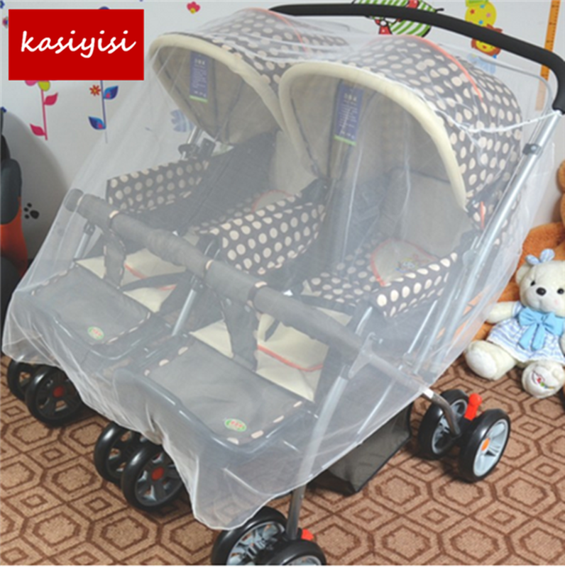 1 Pc Cart Accessories Baby Carriage Nets Twins Nets Anti-biting Anti-mosquito Cart Mosquito Net