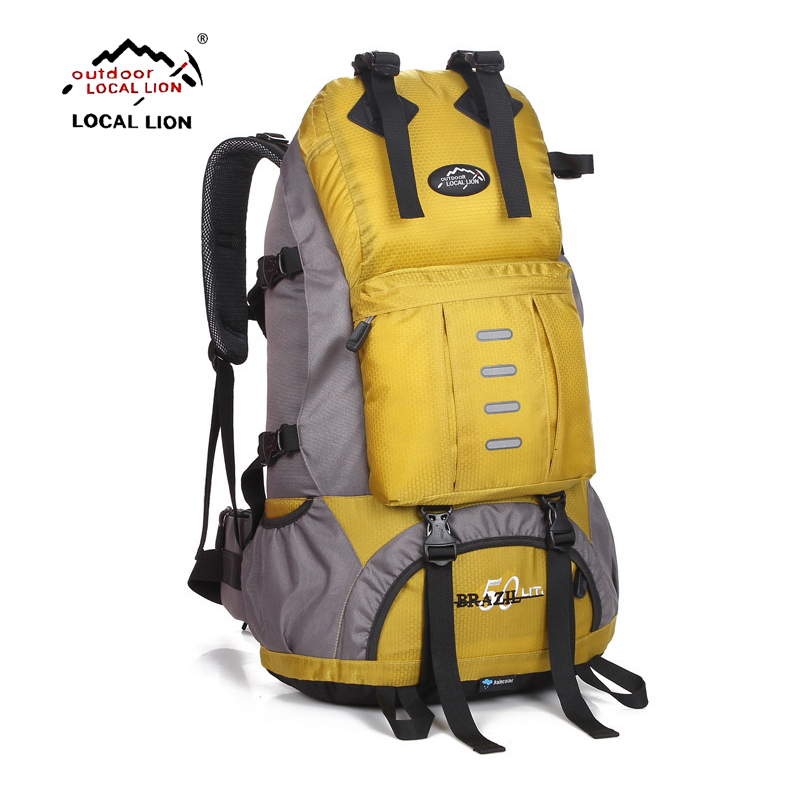 LOCALLION 50L Outdoor Backpack Camping Bag Waterproof Mountaineering Hiking Backpacks Molle Sport Bag Climbing Rucksack strong oxygen gazelle 26l backpack outdoor light breathable mountaineering bag double shoulder sport bag