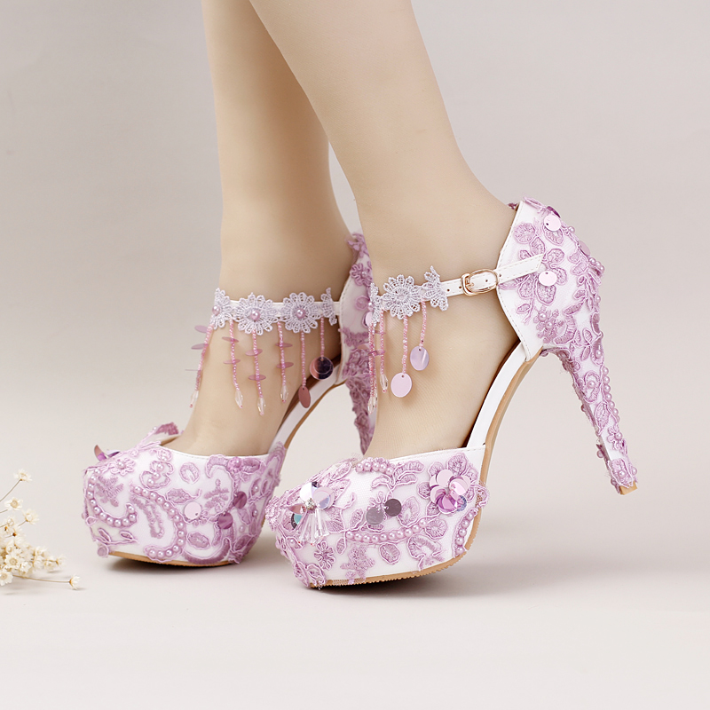 Compare Prices on Purple Lace Heels- Online Shopping/Buy Low Price
