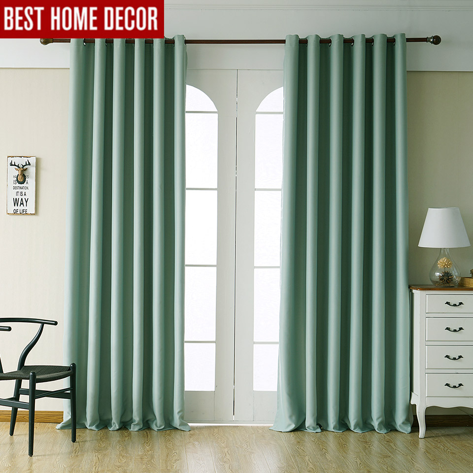 Modern blackout curtains for living room bedroom curtains for window treatment drapes green