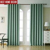 Moderne verduisteringsgordijnen voor woonkamer slaapkamer gordijnen voor raam behandeling gordijnen groen afgewerkte verduisterende gordijnen 1 panel