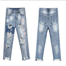 Large Size Lady Jeans Spring Summer New Women's Embroidered