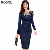 New Brand Top Quality Bodycon Embroidery Hollow Out Knee Length Vintage Slim Women S Dresses Autumn