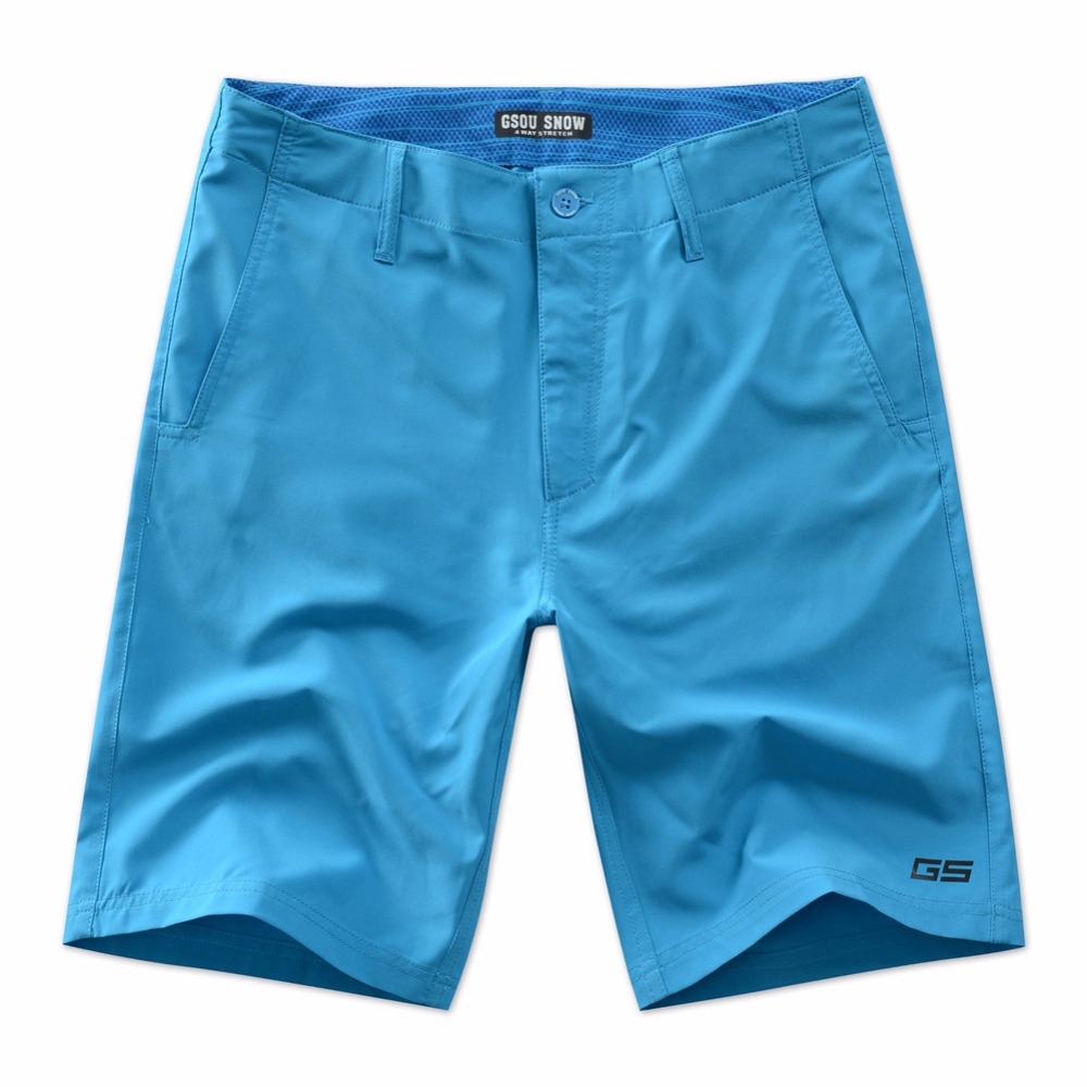 Gsou Snow official store Gsou Snow Brand Beach Shorts 2017 Men Swimming Surfing Shorts Homme Summer Board Shorts Quick Drying Bermuda Homem Swim Short