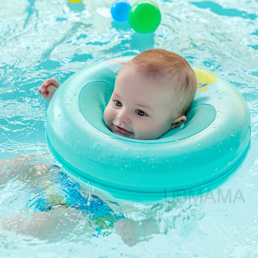 2017 New Design High Quality Safety Baby Need Not Inflatable Floating Ring Round The Neck Float
