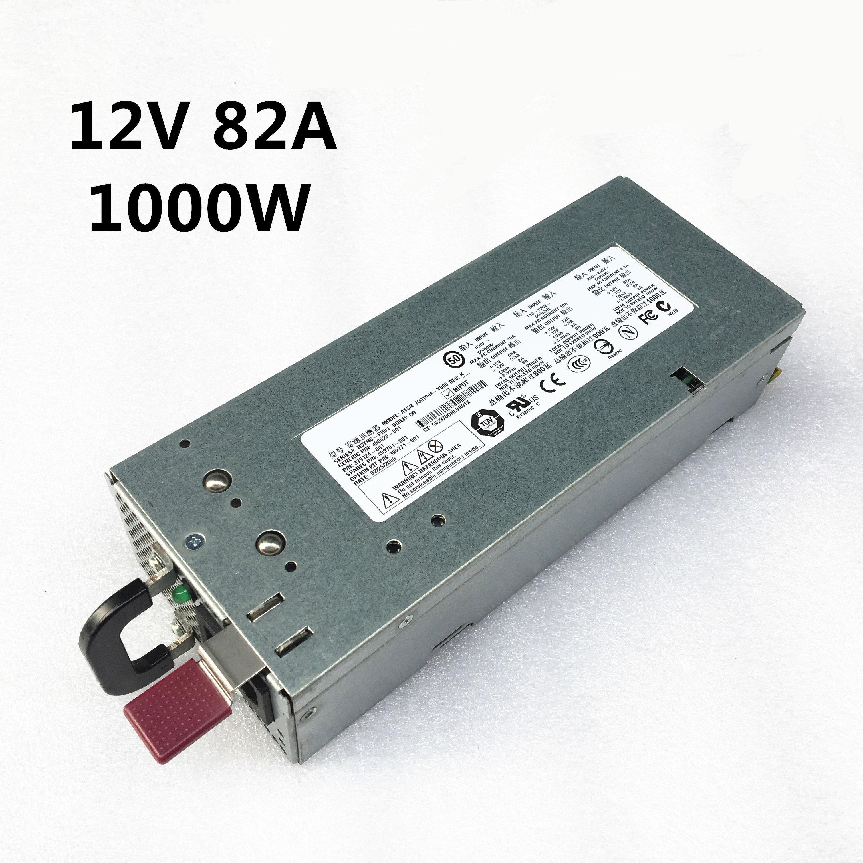 HP Proliant Server Power Supply 1000W 379124-001 380622-001 399771-001 DPS-800GB