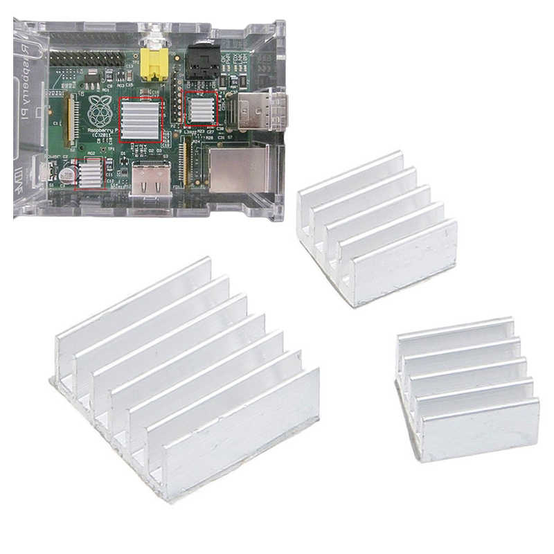 Wholesale 8.8X8.8X5 Mm Aksesoris Pendingin DIY Heatsink CPU GPU IC Chip Memori Aluminium Wastafel Panas Diekstrusi cooler Radiator