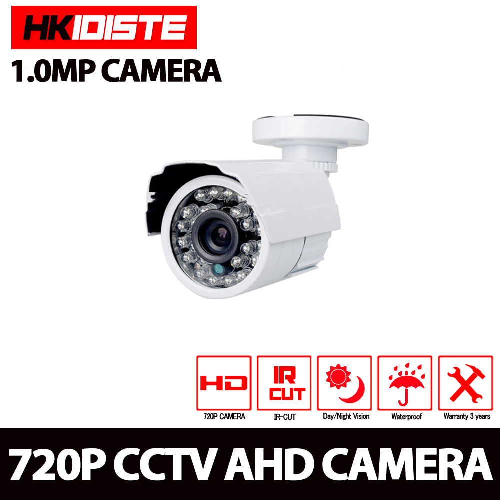 1.0MP CCTV Security 720P AHD Camera White bullet Camera Waterproof IP66 Outdoor Video Surveillance Night Vision wistino cctv bullet ip camera xmeye waterproof outdoor 720p 960p 1080p home surverillance security video monitor night vision