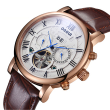 Top Brand Luxury Tourbillon Mens Automatic Watch Business Man Mechanical Watch Leather Waterproof Day Date Clock Sports Watches все цены