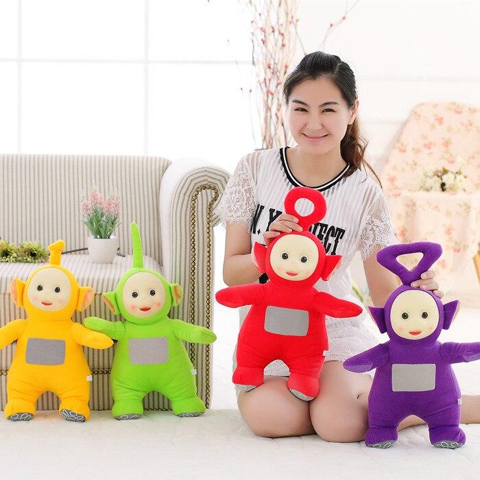 """4 יח'\סט 25 ס""""מ 2019 צעצועים ותחביבים ממולאים בובות טלטאביז בובות חיות באיכות גבוהה מכירה לוהטת צעצועי קטיפה"""