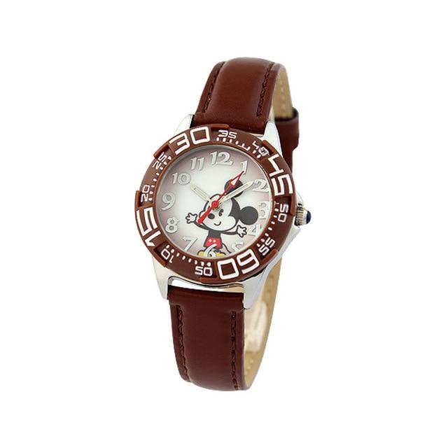 Children WristWatches Disney brands kids Boys Quartz Mickey Minnie Cartoon Leather  Child boy watches relogio clocks