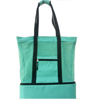 Women Mesh Gym Bag New Sports And Fitness Handbag With Independant Compartment Active Beach Bag New