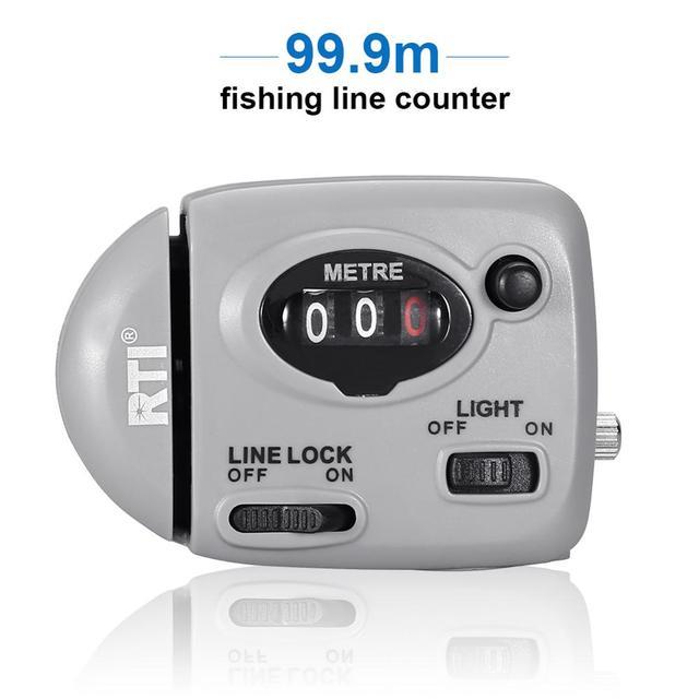 99.9m דיג קו דלפק תצוגה דיגיטלית דיג קו עומק Finder Pesca קרפיון Pesca קרס דיג כלים