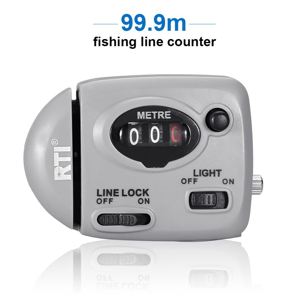 99.9m Fishing Line Counter Digital Display Fishing Line Depth Finder Pesca Carp Pesca Fishing Tackle Tools-in Fishing Lines from Sports & Entertainment