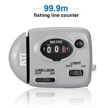 99.9m 낚시 라인 카운터 디지털 디스플레이 낚시 라인 깊이 파인더 Pesca 잉어 Pesca 낚시 태클 도구