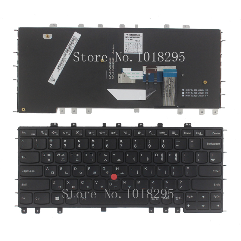 New KR For Thankpad Lenovo S1 YOGA 12 Korean Laptop Keyboard black new original for lenovo thinkpad yoga s1 yoga 12 us keyboard 04y2620 00ht989