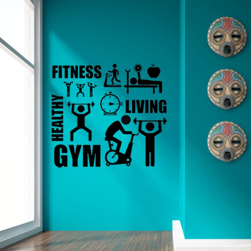Fitness Gym Living Healthy Quotes Stickers Christmas Wall Sticker On The Wall Murals Art Decal Home Decoration Accessories Christmas Wall Stickers Wall Stickerquote Sticker Aliexpress